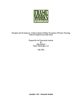 Discipline and Development: A Meta-Analysis of Public Perceptions of Parents, Parenting, Child Development and Child Abuse